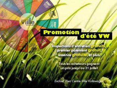 Promotion d'été VW
