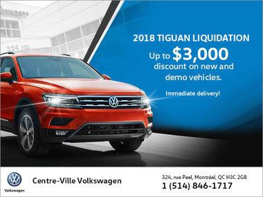 2018 Tiguan Liquidation!