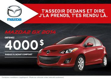 La nouvelle Mazda2 GX 2014 disponible avec rabais de 4000$