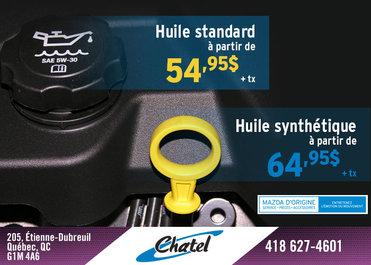 Changement d'huile et filtre à moteur à partir de seulement 49,95$