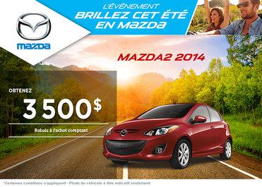 La nouvelle Mazda2 GX 2014 disponible avec rabais de 3500$