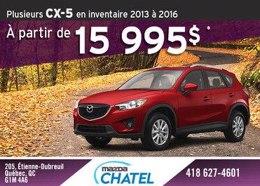 Vente d'inventaire Mazda CX-5 2013 à 2016
