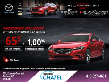 Obtenez la Mazda6 2017!