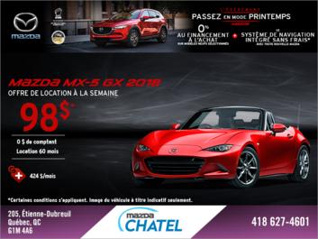Obtenez la Mazda MX-5 2018!
