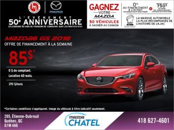 Obtenez la Mazda6 2018!