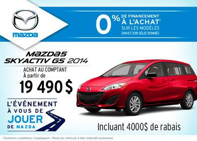 Achetez le Mazda5 GS 2014 à compter de 19 490$