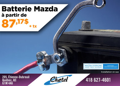 La batterie pour votre Mazda à seulement 87,17$!