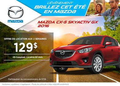 Louez la Mazda CX-5 GX 2015 à partir de 129$ aux 2 semaines