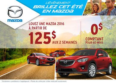 L'événement Brillez cet été en Mazda!