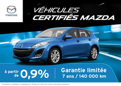 Nos véhicules certifiés Mazda