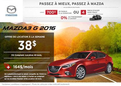 La toute nouvelle Mazda3 G 2016