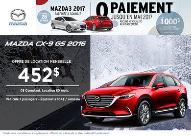 Louez la Mazda CX-9 GS 2016!
