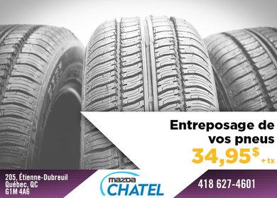 Entreposage de vos pneus
