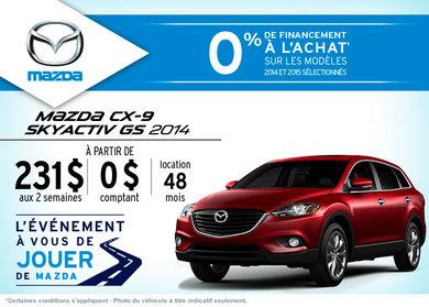 Le nouveau Mazda CX-9 en location à compter de 231$ aux 2 semaines