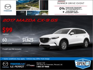 Get the 2017 Mazda CX-9!