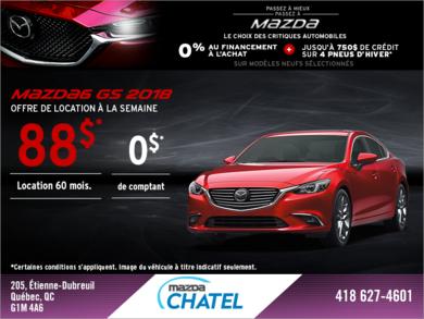 Procurez-vous la Mazda6 2018!