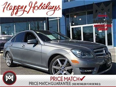2013 Mercedes-Benz C350 AWD, SAT RADIO, AMG WHEELS  * 150 points inspection by a Mercedes-Benz Certified Technician * Interest Rates Starting At 0.9%