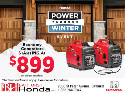 Honda's Power Through Winter Event - Generators