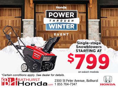 Honda's Power Through Winter Event - Snowblowers
