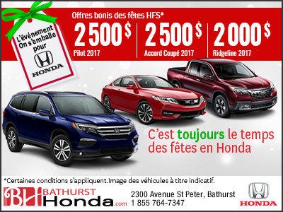 Épargnez sur une nouvelle Honda!
