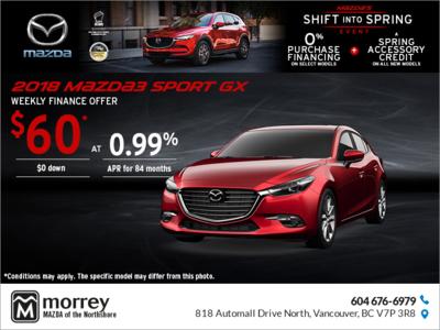 Get the 2018 Mazda3 Sport!