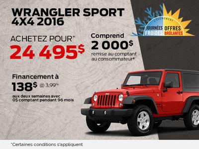Wrangler sport 4x4 2016 à 24 495$