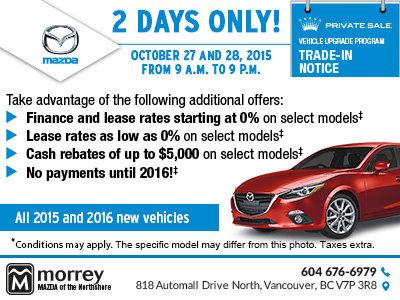 Mazda m day sale 2016
