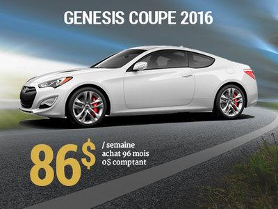 86$ par semaine pour une Hyundai Genesis Coupe 2016  chez Hyundai Shawinigan à Shawinigan