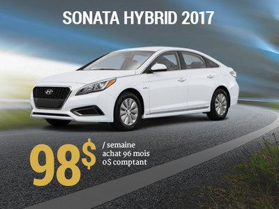 Roulez en Hyundai Sonata Hybrid 2017 pour 98$ / semaine chez Hyundai Trois-Rivières à Trois-Rivières