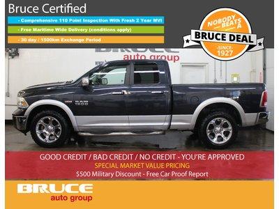 2013 Dodge RAM 1500 Laramie 5.7L 8 CYL HEMI AUTOMATIC 4X4 QUAD CAB | Bruce Hyundai