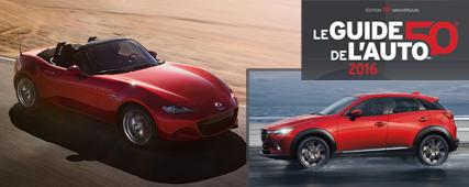 Mazda: fabricant grand gagnant du Guide l'auto 2016