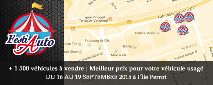 Le FestiAuto, un événement à ne pas manquer! PRENEZ RENDEZ-VOUS DU 16 AU 19 SEPTEMBRE 2015…