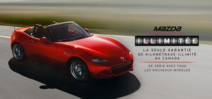 Garantie de kilométrage illimité Mazda de série avec tous les nouveaux modèles