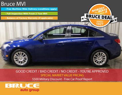 2012 Chevrolet Cruze ECO 1.4L 4 CYL TURBO 6 SPD MANUAL FWD 4D SEDAN