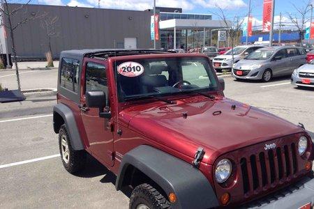 2010 Jeep Wrangler SPORT...$201 B/W...LOW KMS...AUTO..4X4..HRDTP