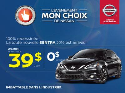 L'événement Mon choix de Nissan - Sentra 2016