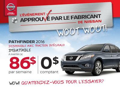 L'événement approuvé par le fabricant  de Nissan - Pathfinder 2016