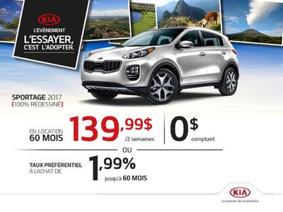 Le Kia Sportage 2017 fait pour vous!