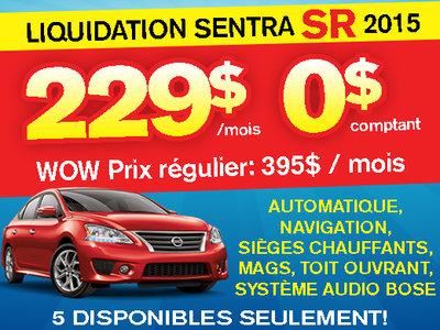Liquidation Sentra SR 2015