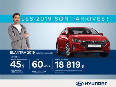 Nos Hyundai Elantra 2019 sont arrivées!