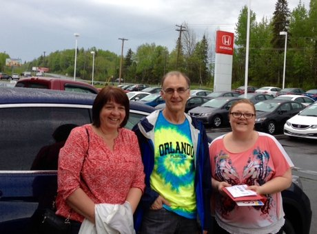We had a very good experience at Bathurst Honda. Tammy Aubie was very friendly and knowledgeable.