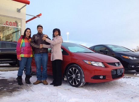 I am very happy that I have got my Civic Si and I have got great service! Jonathan Bujold