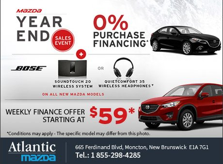 Mazda's Year End Sales Event!