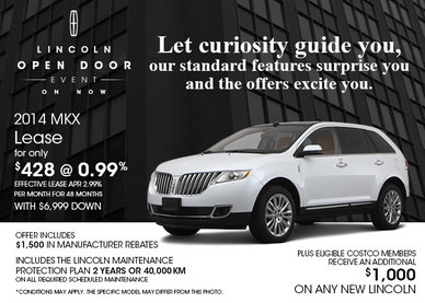 The 2014 Lincoln MKX is only $428 per month!