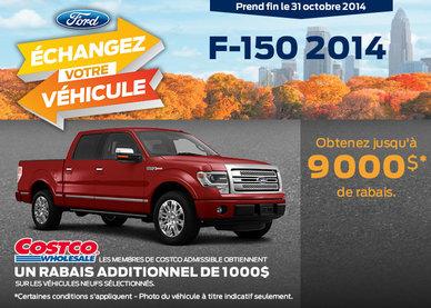 Le nouveau Ford F-150 2014 à vous avec un rabais de 9000$