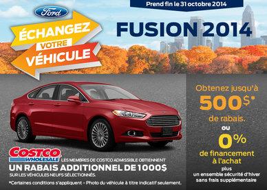 Ford Fusion 2014 avec un rabais de 500$