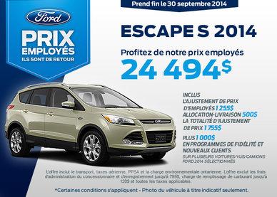 Le Ford Escape S 2014 à vous pour 24 494$