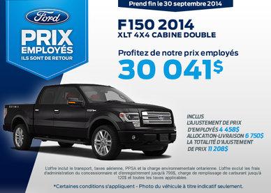 Le nouveau Ford F-150 2014 à vous à partir de 30 041$