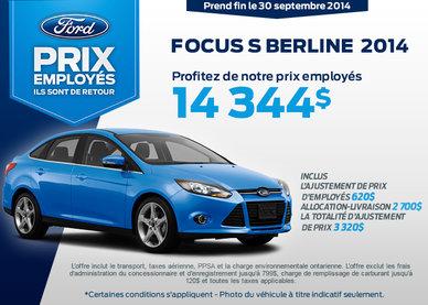 Ford Focus 2014 à vous à compter de 14 344$