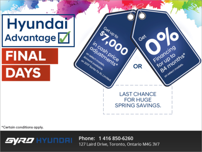 Hyundai Advantage Event - Final Days!